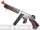 Thompson M1A1 Military Grand Special Edition Airsoft AEG Rifle (Color: Nickle Plated Chrome / Real Wood)