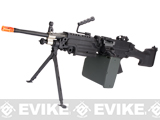 (July 4th EPIC SALE!) A&K Full Metal M249 MK II SAW Airsoft AEG w/ Electric Drum Mag