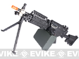 Matrix Full Metal MK46 Airsoft Machine Gun with Retractable Stock