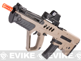 Israeli Weapon Licensed S&T TAVOR-21 TAR 21 CQC Airsoft AEG Rifle - Dark Earth (Full Metal Gearbox)