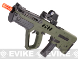 z Israeli Weapon Licensed S&T TAVOR-21 TAR 21 CQC Explorer Airsoft AEG Rifle - OD Green