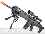 Cybergun FN Herstal Licensed Full Metal SCAR Heavy Airsoft AEG Rifle by VFC (Model: MK17 SSR / Black)