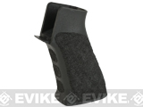 APS Custom Hand Stippled High Speed Motor Grip for M4/M16 Airsoft AEGs - Black
