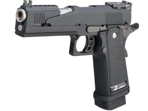 WE-Tech Full Auto Competition Series Hi-CAPA Gas Blowback Pistol (Model: Alpha / Black / Standard Grip)