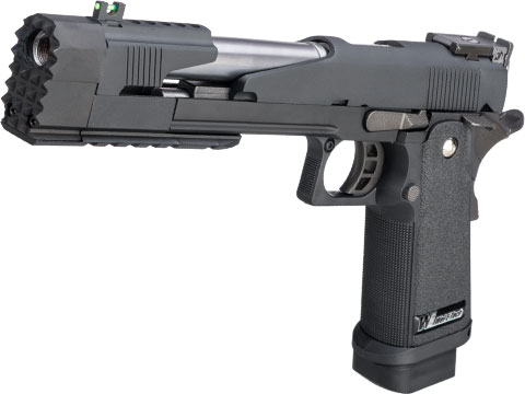 WE-Tech Full Auto Competition Series Hi-CAPA Gas Blowback Pistol (Model: Xcelerator Dragon Long Slide / Black / Standard Grip)