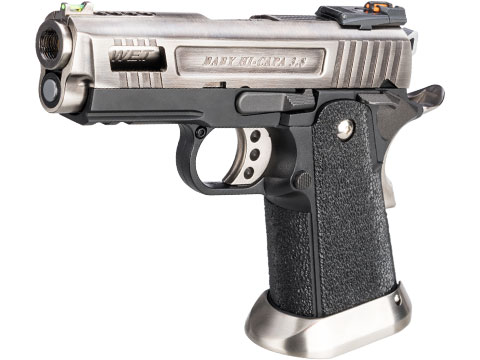 WE-Tech Hi-Capa 3.8 Velociraptor Gas Blowback Pistol (Color: Silver / Full Auto)