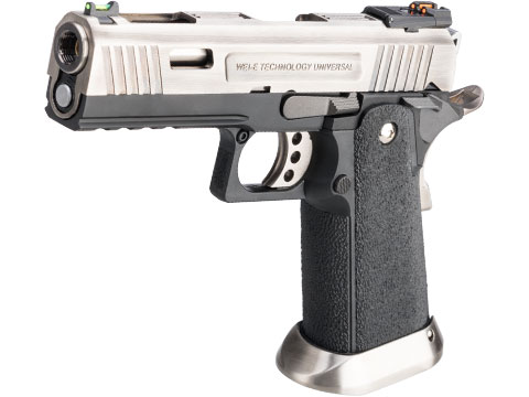 WE-Tech Hi-Capa 4.3 Allosaurus Gas Blowback Pistol (Color: Silver)