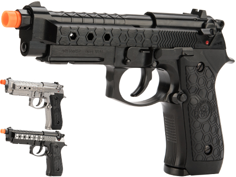 WE-Tech Hex M92A1 Full Metal Gas Blowback Airsoft Pistols (Color: Silver)