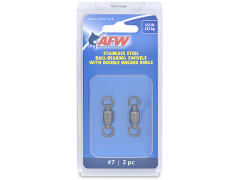 AFW Stainless Steel Ball-Bearing Fishing Swivels w/ Double Welded Rings