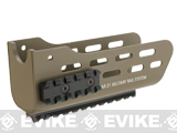 Angry Gun CNC Metal Military Rail System and Handguard for Tavor 21 Airsoft AEG Rifles (Color: Dark Earth)