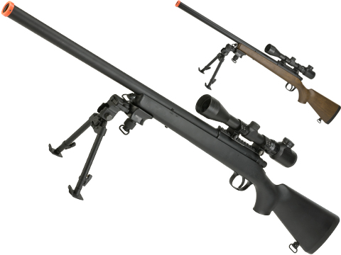 AGM M700 Airsoft Bolt Action Sniper Rifle with Scope Rail (Package: Black / Gun Only)
