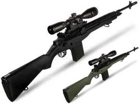 AGM MP008 M14 Airsoft AEG Battle Rifle w/ Scope Mount (Color: Black)