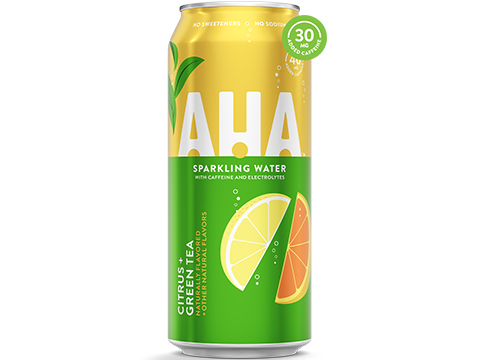 AHA Sparkling Water 16oz Can (Flavor: Citrus + Green Tea)