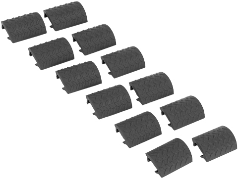 Matrix Rubber Ergonomic RIS Hand Guard Rail Cover Set - Set of 12 (Color: Black)
