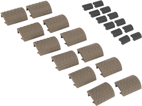 Matrix Rubber Ergonomic RIS Hand Guard Rail Cover Set - Set of 12