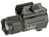 AIM Sports 330 Lumen Compact LED Quick Release Flashlight with Color Filter Lenses