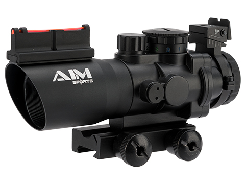 4x32 Tri Illuminated Scope W/Fiber Optic Sight