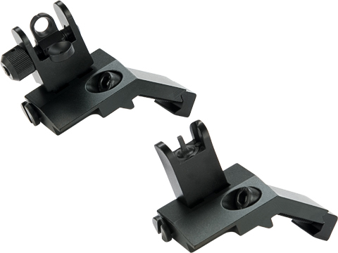 Matrix 45 Degree Flip Up Iron Sights for M4 / M16 / AR15 Rifles