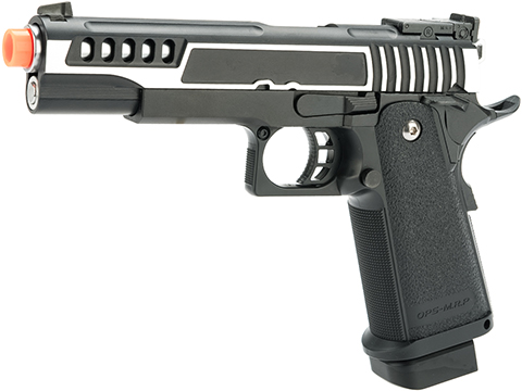 Evike.com Tokyo Marui / Airsoft Masterpiece 5.1 Hi Capa V3 Two-Tone Custom Gas Blowback Airsoft Pistol