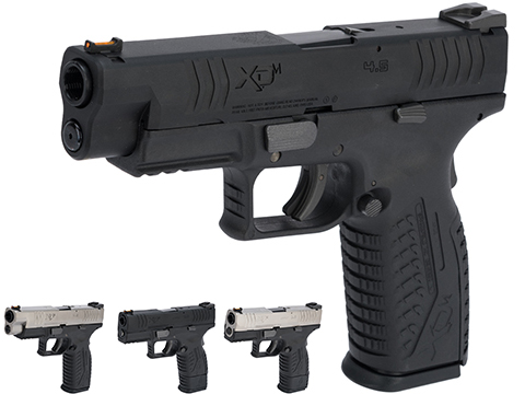 Springfield Armory Licensed XDM .177 Cal CO2 Blowback Air Pistol (Model: 4.5 Duty / 2-Tone Silver-Black)