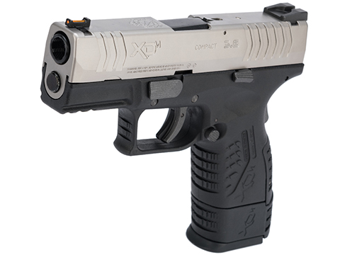 Springfield Armory Licensed XDM .177 Cal CO2 Blowback Air Pistol (Model: 3.8 Compact / 2-Tone Silver-Black)