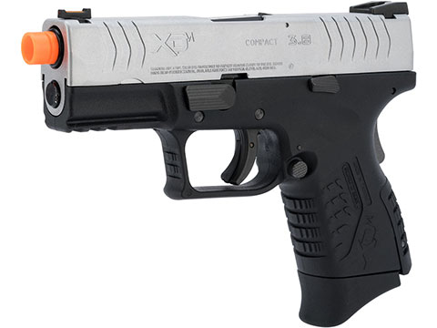 Springfield Armory Licensed XDM Gas Blowback Airsoft Training Pistol (Model: 3.8 Compact / 2-Tone Silver-Black)