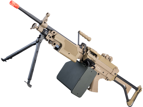 Cybergun FN Licensed Middleweight M249 Airsoft Machine Gun (Version: MK I / Tan)