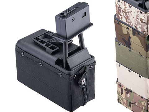 A&K 1500 Round Box Magazine with Upgraded High Strength Motor for Airsoft M249 Series AEG