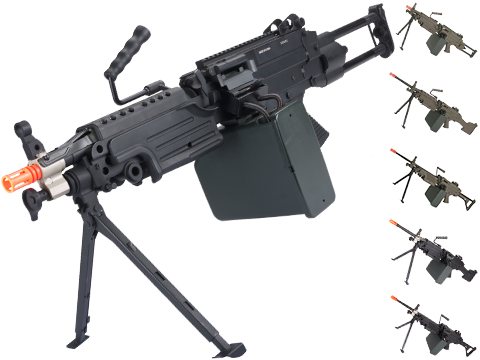 Cybergun FN Licensed M249 Airsoft Machine Gun (Version: Para / Black / AEG)