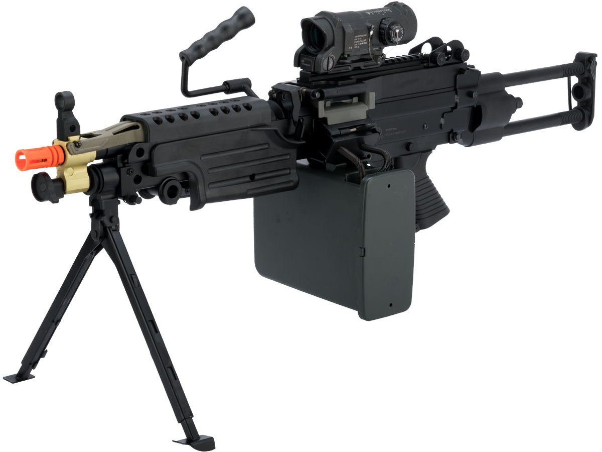 A&K / Cybergun FN Licensed M249 SAW Machine Gun w/ Metal Receiver (Model: Para)