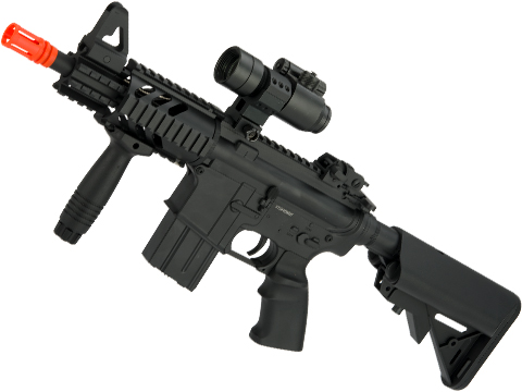 A&K Full Metal M4 CQB-07 Stubby Elite Airsoft AEG - Crane Stock