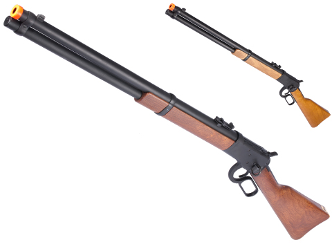 A&K Special Edition M1892 High Power Lever Action Airsoft Gas Sniper Rifle (Model: Real Wood Stock)