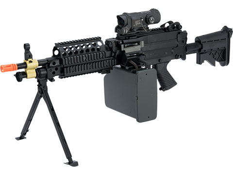 A&K / Cybergun FN Licensed M249 SAW Machine Gun w/ Metal Receiver (Model: MK46)