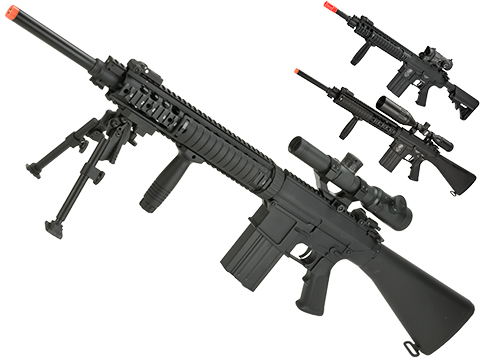 A&K Full Metal SR-25 Airsoft AEG Rifle (Model: Fixed Stock)