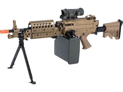 Cybergun FN Licensed M249 Airsoft Machine Gun (Version: MK46 / Dark Earth / AEG)