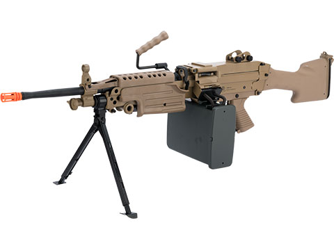 A&K / Cybergun FN Licensed M249 SAW Machine Gun w/ Metal Receiver (Model: MK-II / Dark Earth)
