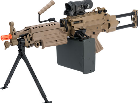 A&K / Cybergun FN Licensed M249 SAW Machine Gun w/ Metal Receiver (Model: Para / Dark Earth)