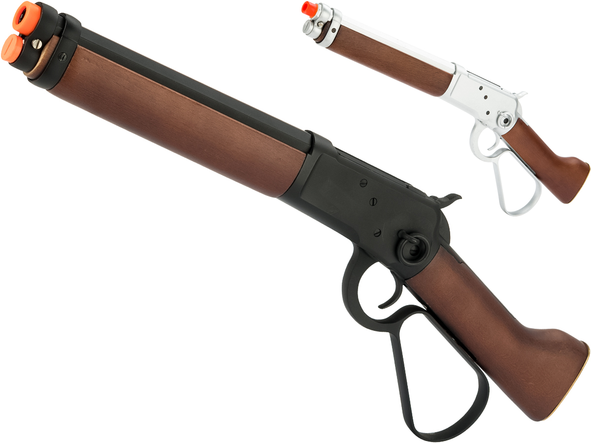 A&K M1873 Mares Leg Lever Action Airsoft Gas Rifle (Color: Black)