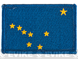 Evike.com Tactical Embroidered U.S. State Flag Patch (State: Alaska The Last Frontier)