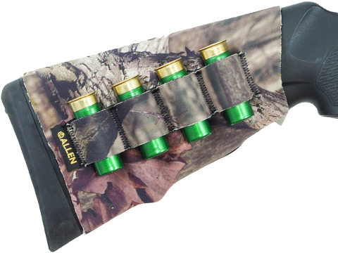 Allen Company Low Profile Neoprene Stretch Shotgun Stock Cover w/ Shell Holder (Color: Mossy Oak)
