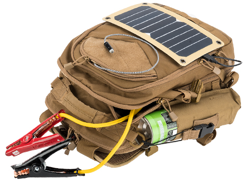 ALSET Power Pack™ and Power Pack Pro™: The Solar Powered Go-Anywhere Backpack (Color: Coyote Brown)