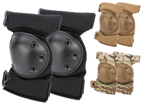Alta Industries AltaCONTOUR Tactical Knee Pads with Flexible Caps (Color: Black)