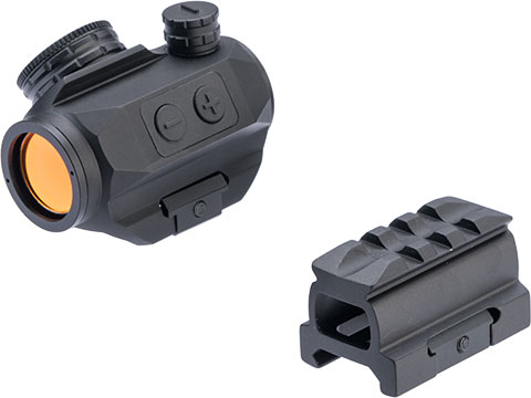 Matrix Button Activated Micro Red/Green Dot Reflex Sight w/ 1/3rd Cowitness Mount