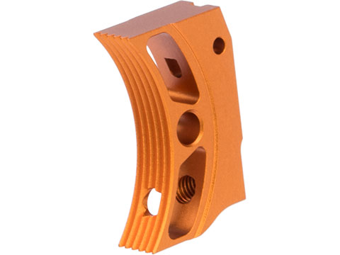 Airsoft Masterpiece EDGE Aluminum Trigger for Hi-CAPA / 1911 Gas Blowback Airsoft Pistols - Type 4 (Color: Orange)