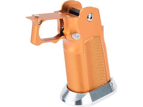 Airsoft Masterpiece EDGE Custom MET Aluminum Grip for Tokyo Marui Hi-Capa Airsoft Pistols (Color: Orange)