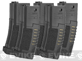 ARES Amoeba 140rd High Grade Mid-Cap Magazine for M4/M16 Series Airsoft AEG Rifles - Set of 5 / Black