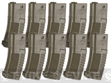 ARES Amoeba 140rd Sport Line Mid-Cap Magazine for M4/M16 Series Airsoft AEG Rifles - Set of 10 / Dark Earth