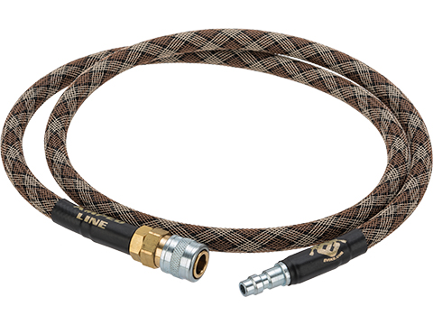 Amped Airsoft 36in. Standard Braided Hose for HPA Systems with Quick Detach Fittings (Color: Snake)