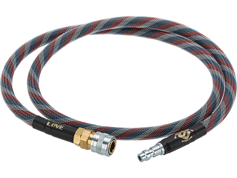 Amped Airsoft 36in. Standard Braided Hose for HPA Systems with Quick Detach Fittings (Color: Patriot)