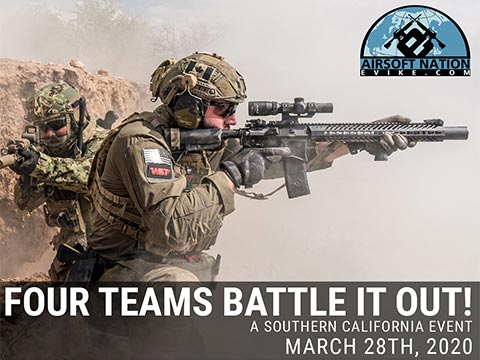 Operation: Airsoft Nation Fan Appreciation Game @ SC Village, March 28th, 2020 in Corona, California